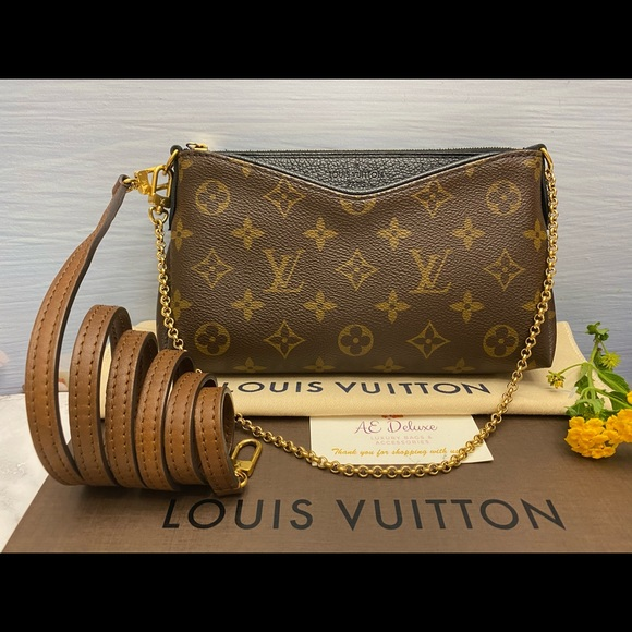 Louis Vuitton Handbags - ⛔️SOLD⛔️Pallas Noir/Black Chain Crossbody (GI2176)